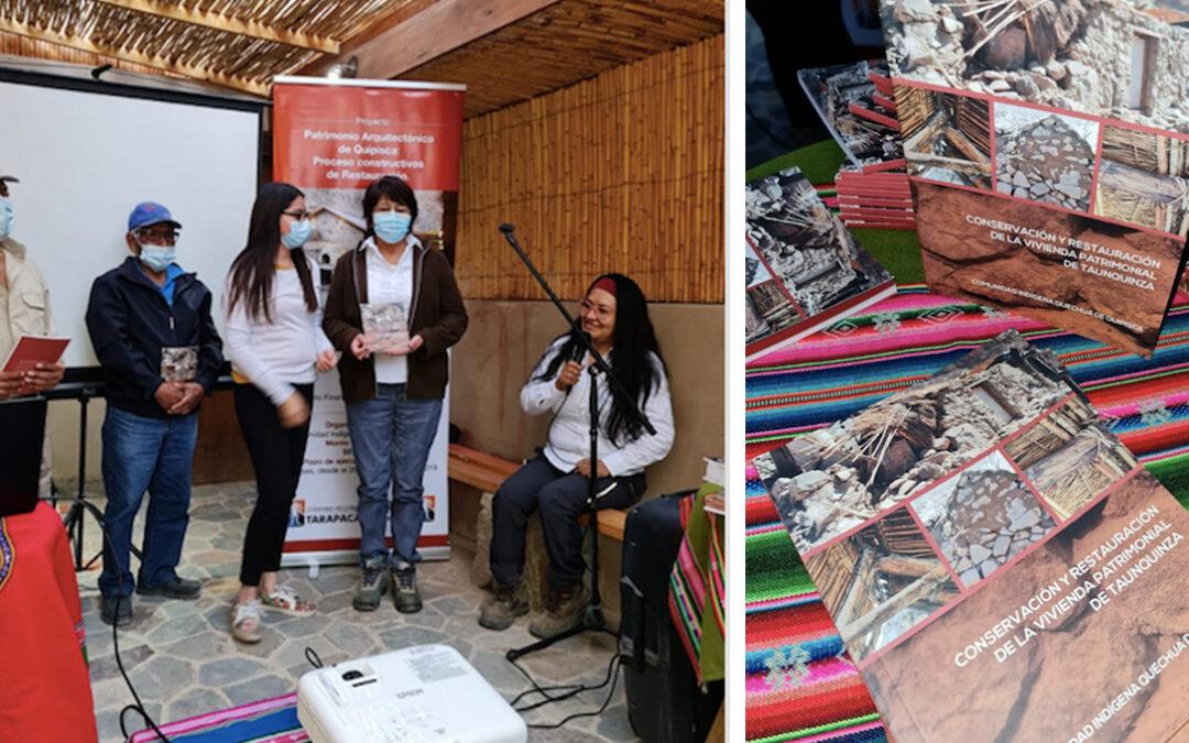 Lanzamiento libro sobre conservación y restauración de vivienda ancestral