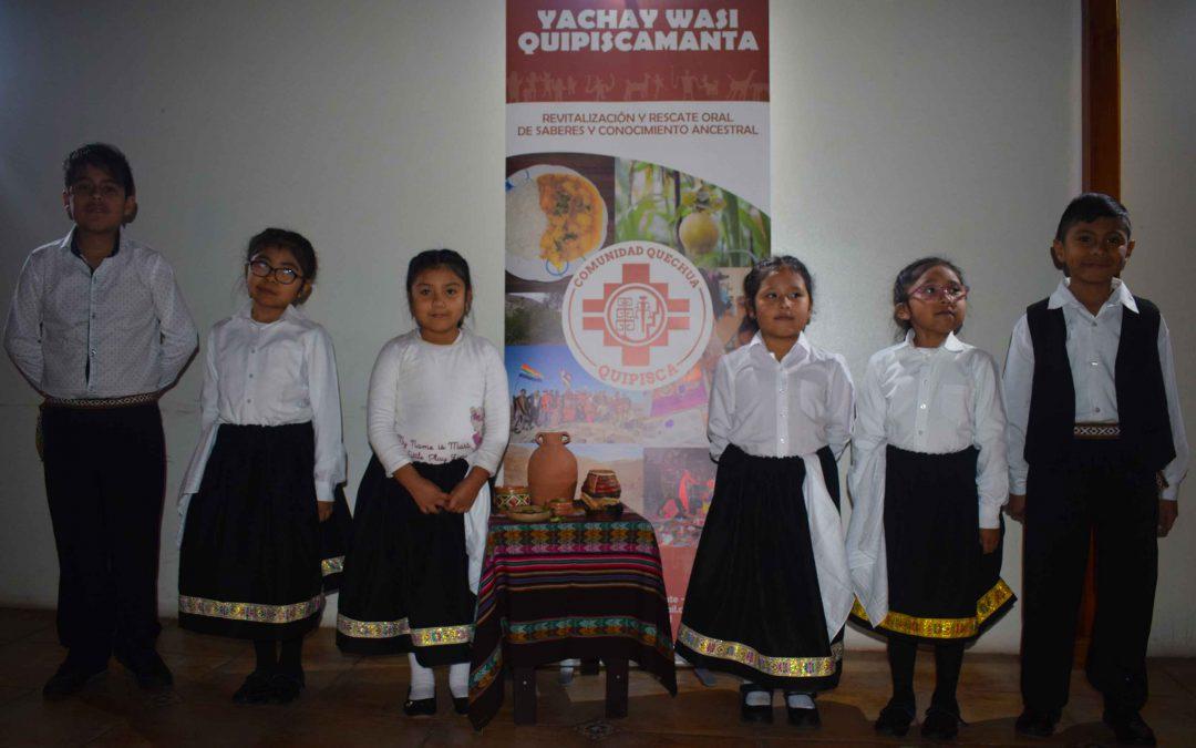 Lanzamiento del Proyecto Yachay Wasi Quipiscamanta